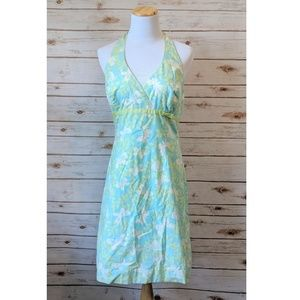 Vintage Lily Pulitzer White Label Green Blue Sz 8